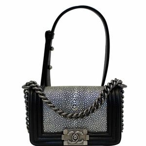 CHANEL Mini Boy Galuchat Stingray Flap Bag